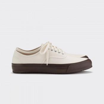 "Chaussures De Sport ""Oxford"": Ecru/Marron"