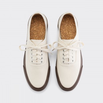 Oxford Shoe : Ecru/Brown