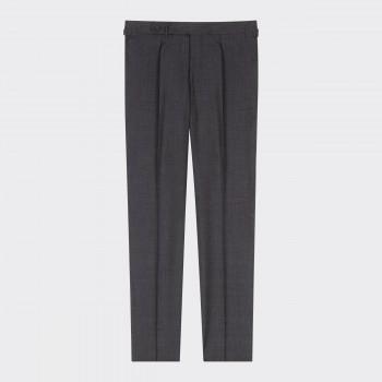 Pantalon en Laine d'Été à Pinces : Gris