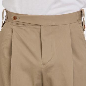 Pantalon Gabardine à Pinces : Beige