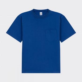 T-shirt Poche: BleuRoi