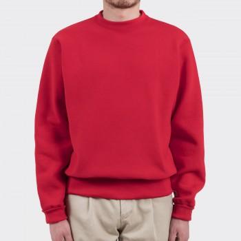 Sweatshirt Col Rond : Rouge