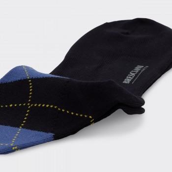 Chaussettes Courtes Argyle Coton : Marine/Vert Menthe/Bleu Persan