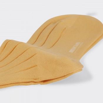 Chaussettes Courtes Coton: Jaune Pâle