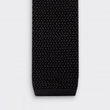 Knitted Tie: Black