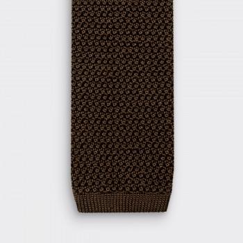 Cravate Tricotée Soie: Vert Olive