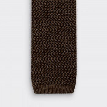 Knitted Tie : Olive Green