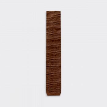 Cravate Tricotée Soie: Tabac