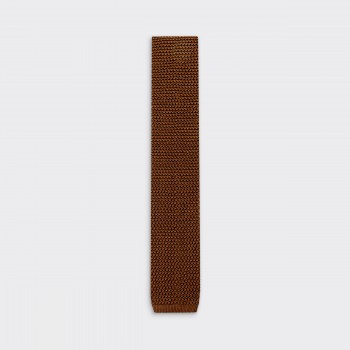 Knitted Tie : Tobacco