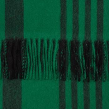 Écharpe Tartan Lambswool et Angora  : Vert/Noir
