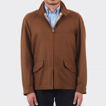 Veste Golf En Laine : Marron