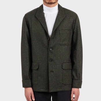 Dogtooth Fox Brothers Flannel Teba Jacket : Chocolate/Pistachio