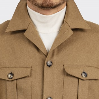 Safari Jacket en Flanelle Fox Brothers : Camel