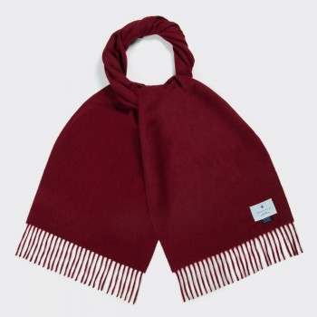 Lambswool and Angora Scarf  : Burgundy