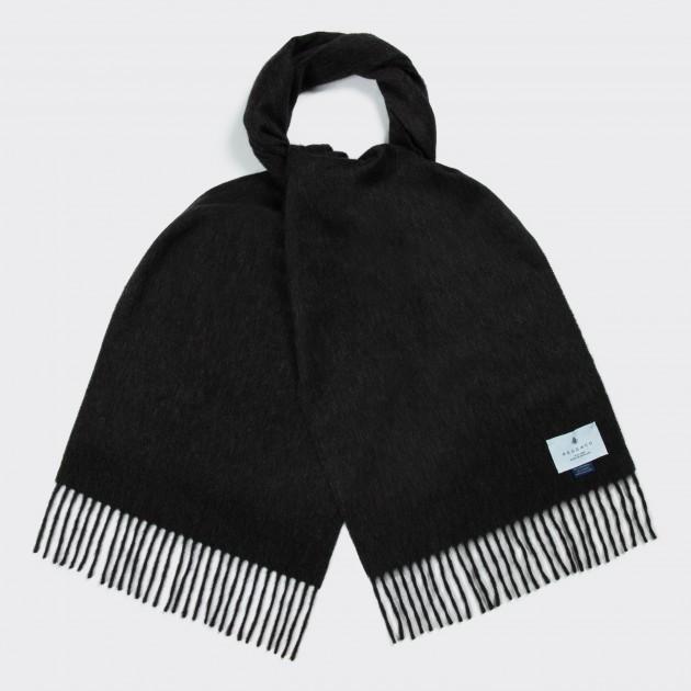 Lambswool and AngoraScarf : Dark Grey