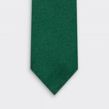 Cravate Laine Soie et Cachemire : Vert