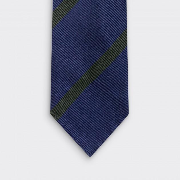 Cravate Rayures Club : Marine/Vert Foncé
