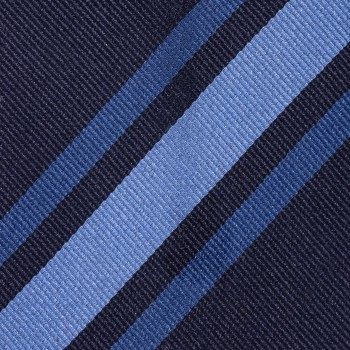 Cravate Rayures Club : Bleu