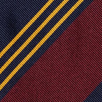 Cravate Rayures Club : Marine/Jaune/Rouge
