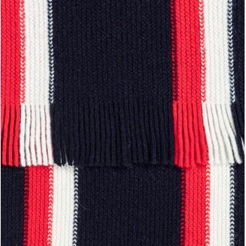 Écharpe en Laine Rayures Ivy : Marine/Blanc/Rouge