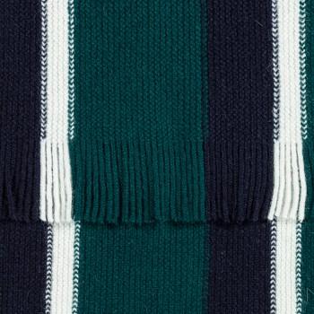 Écharpe en Laine Rayures Ivy : Marine/Blanc/Vert