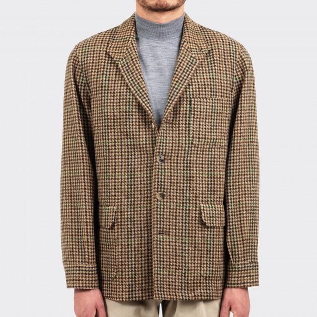 Teba Jacket Carreaux En Tweed : Marron/Vert