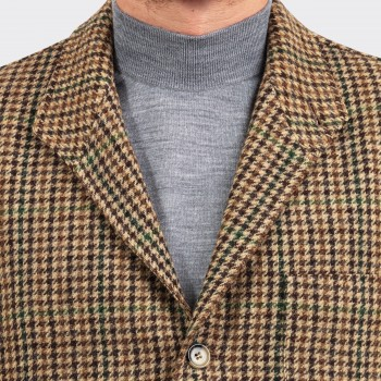Teba Jacket Carreaux En Tweed : Marron/Vert