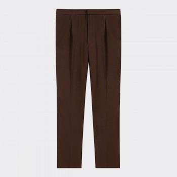 «Easy Pants» Twill de Laine: Marron