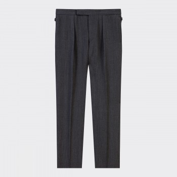 Pantalon Pinces FrançaisesWhipcord: Gris Foncé