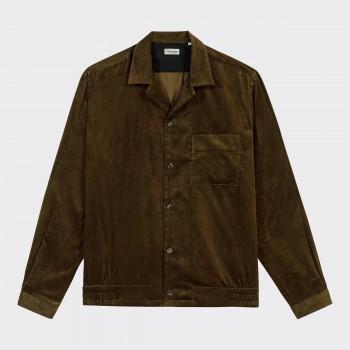 """""""Shirt-Jacket"""" Velours Côtelé : Olive"""