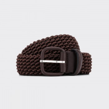 Woven Elastic Belt : Brown