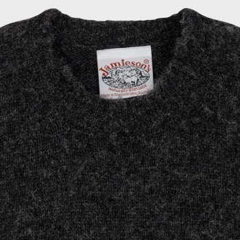 Brushed Wool Crewneck Knit: Grey