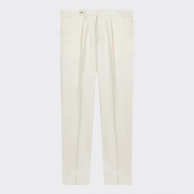 Pantalon Twill de Laine : Écru