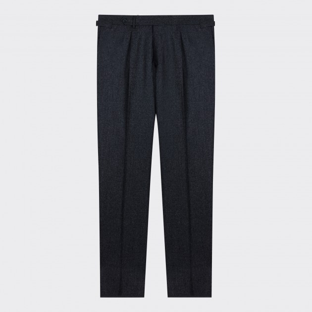 Pantalon En Flanelle : Gris