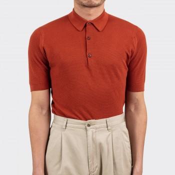 Polo Coton Texturé : Rouille