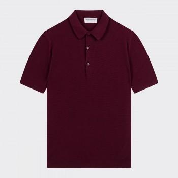 Polo Coton Texturé : Bordeaux