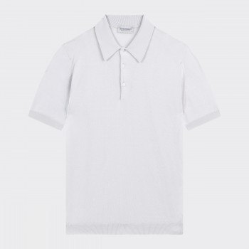Short Sleeves Cotton Polo Shirt : Cloud