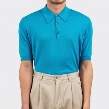 Polo Manches Courtes Coton : Turquoise