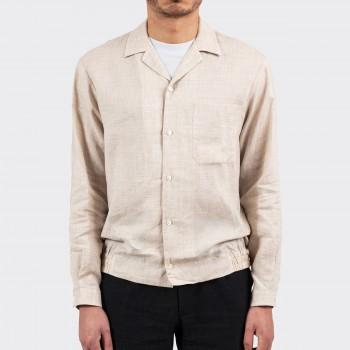 «Shirt-Jacket» Col Ouvert : Beige