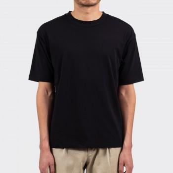 T-shirt Coton & Soie: Noir
