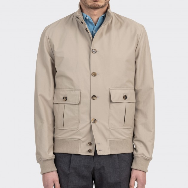 Water repellent Cotton A-1 Jacket : Navy