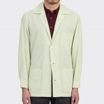 Summer Jacket Seersucker : Vert Clair/Blanc