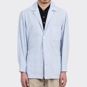 Summer Jacket Seersucker : Bleu/Blanc
