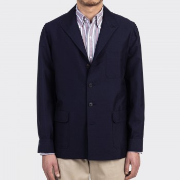 """Hardy Minnis"" Fresco Teba Jacket : Dark Navy"