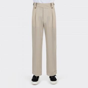 Pantalon Gurkha à Pinces : Beige