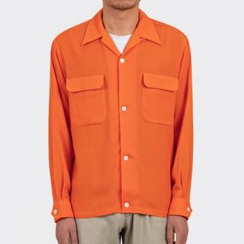 Surchemise Col Ouvert: Orange