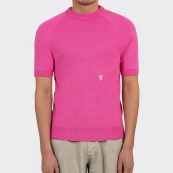 Sweatshirt Manches Courtes 60's : Rose