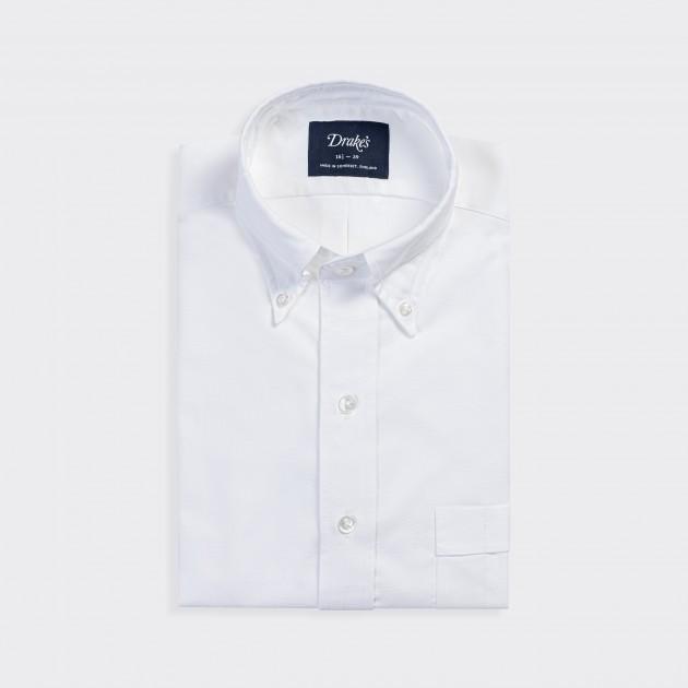 Chemise Col Boutonné Oxford : Blanc