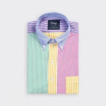 Poplin Button-Down « Fun Shirt » : Multi-Colour