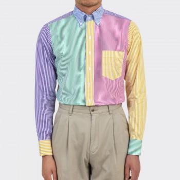 """""""Fun Shirt"""" Col Boutonné en Popeline: Multicolore"""